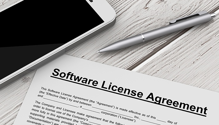 Software licensing agreement webcasts